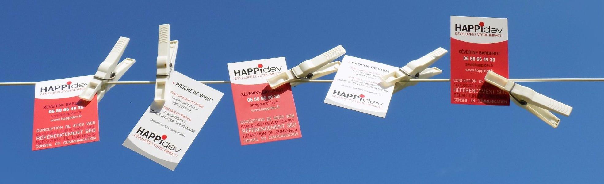 Avec Happidev, communiquez efficacement avec un budget mini !